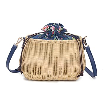 ed6235e1c7ee2 Colinsa Women s Straw Handtasche Woven Sommer Strand Messenger Tasche Korb  Shopper Handtasche