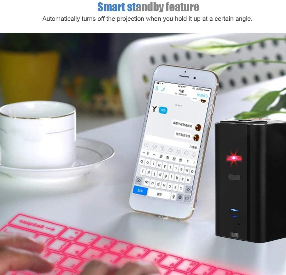 Hands-Free Calling Bluetooth Speaker Tosuny Mini Virtual Holographic Mouse with Keyboard and Mouse Functions Wireless Projection Bluetooth Virtual Keyboard Voice Broadcast
