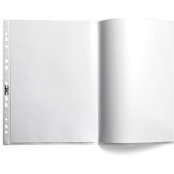 confezione da 10 pezzi DURABLE 267119 Busta premium per cataloghi f.to A3 orizzontale trasparente apertura lato superiore