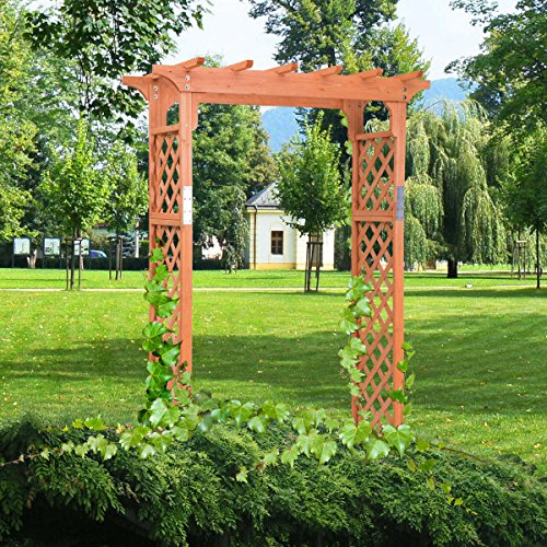 7 Ft Tall Wooden Arbor Backyard Decorations For Gardens And Walkways And Paths by Generic