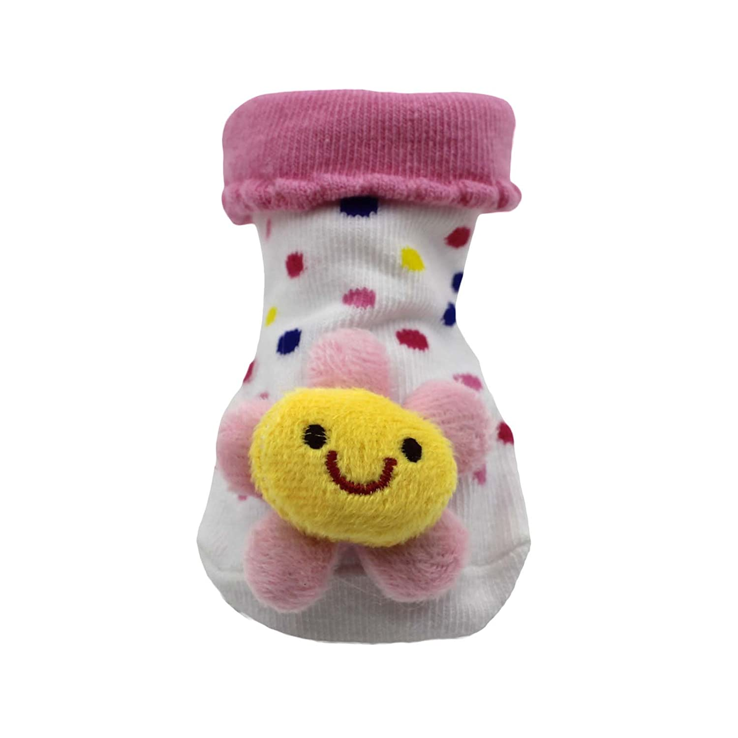sunflower HuntGold Cute Baby Kid Toddler Newborn 3D Cartoon Short Sock Slipper Shoe Children Bootie