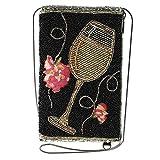Mary Frances Wine Not Beaded Crossbody Phone Bag, Multi