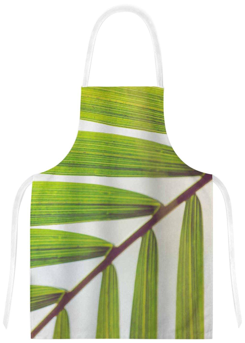 31 x 36 Multicolor KESS InHouse AB2054AAR01 Ann BarnesJungle Abstract Green White Artistic Apron