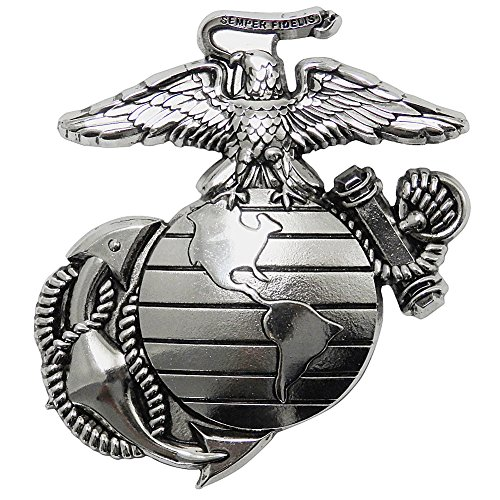 (Indiana Metal Craft US Marine Corps EGA Auto Grille Emblem. Made in USA)