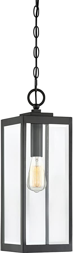 Quoizel Wvr1907ek Westover Modern Industrial Outdoor Mini Pendant Ceiling Lighting 1 Light 150 Watt Earth Black 21 H X 7 W Amazon Com