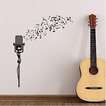 Diseño Moderno Diy Notas Musicales Patrón De Micrófono Etiqueta De ...