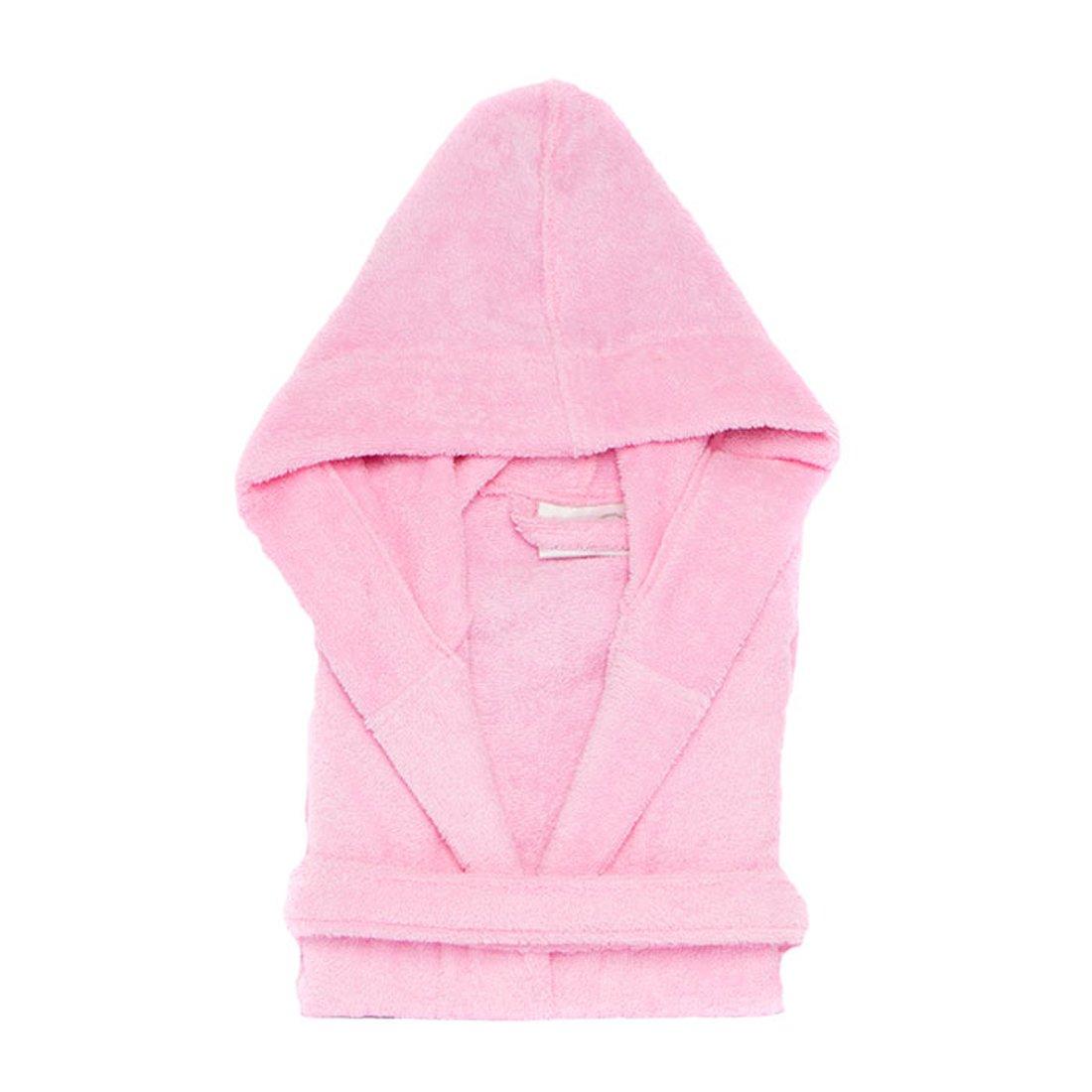 Mirko Hooded Bathrobe Terry Cloth Hoodie Bathrobe%100 Cotton for Kids