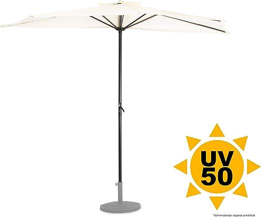Ondis24 pared pantalla 2, 7 x 1, 4 metros Protección Solar sombrilla semicircular con manivela, UV 50: Amazon.es: Jardín