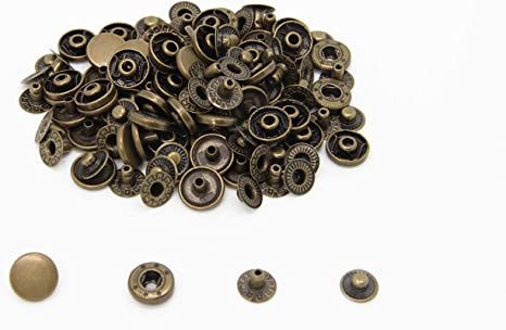 30 x 17mm  Gunmetal Black Press Studs Kit Leather Snap Fasteners Poppers Button