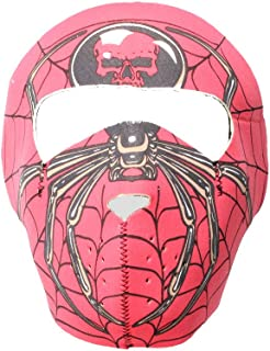 Red Spider Web and Spider Neoprene Facemask Excellent for Bikers