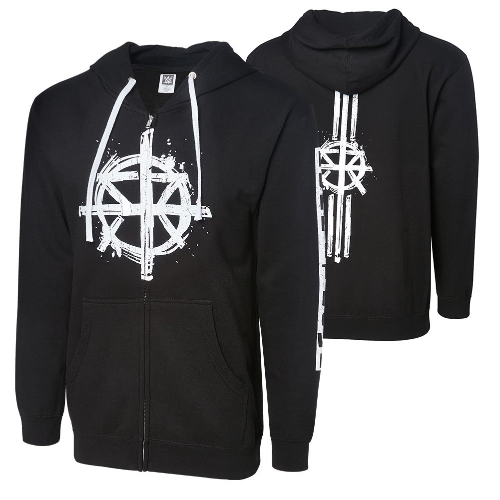 WWE Seth Rollins Burn it Down Full Zip Youth Hoodie Sweatshirt Black Medium by WWE Authentic Wear