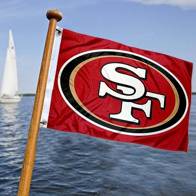 Wincraft San Francisco 49ers Bandera de Barco y Carro de Golf: Amazon.es: Deportes y aire libre