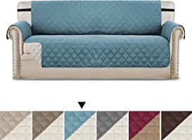 Home Fashion Reversible Quilted Waterproof Plush Furniture Protector for Pets, Features Cozy and Efficient, Soft and...
