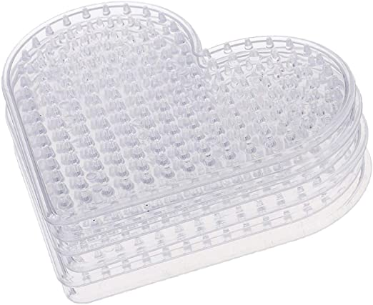 5MM Clear Square Pegboards Board For Perler Hama Beads Peg Board Kids Toys