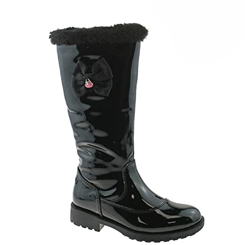 a8e72afd62793 Lelli Kelly Frances Girls Black Patent Long Boots 8.5 26 Std Unless Stated  in Colour