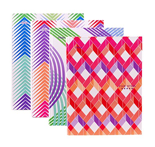 "Set of 4 HARDCOVER Composition Notebooks by MEAD - College Ruled, 100 sheets, 9 3/4"" x 7 1/2"", Assorted Designs"
