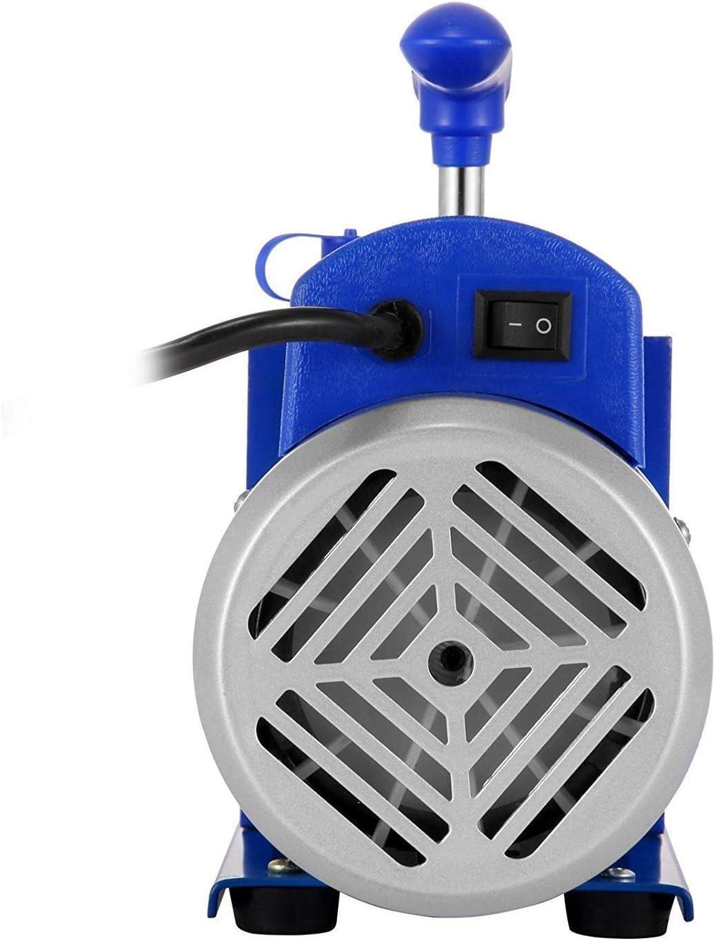 3HP R/éfrig/érante HVAC Climatiseur /à une /étape 85 L//min Pompe /à Vide /à Palettes Rotative Pompe d/évacuation sous vide A//C Pompe /à Vide 3CFM 1