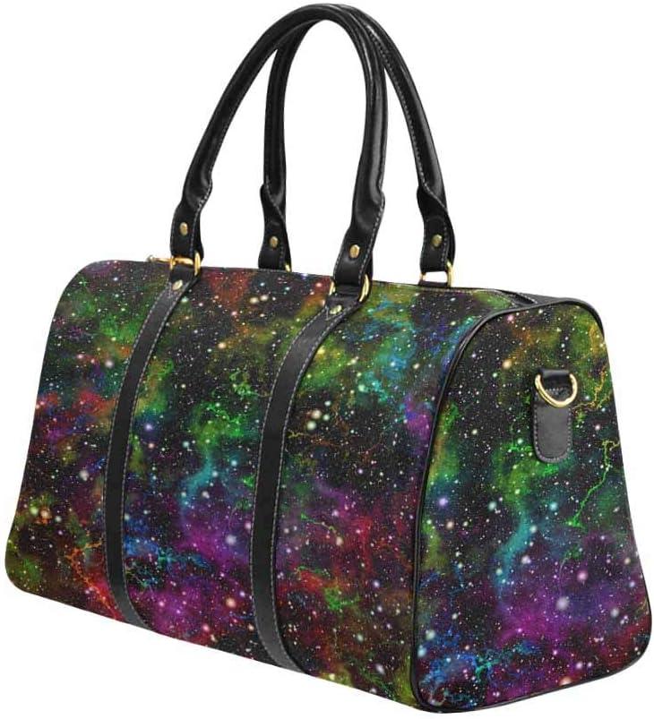 Rainbow InterestPrint Carry-on Garment Bag Travel Bag Duffel Bag Weekend Bag Shiny Universe