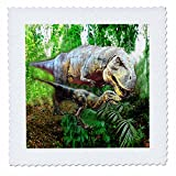 3dRose qs_4096_6 Dinosaurs Quilt Square, 16 by 16-Inch