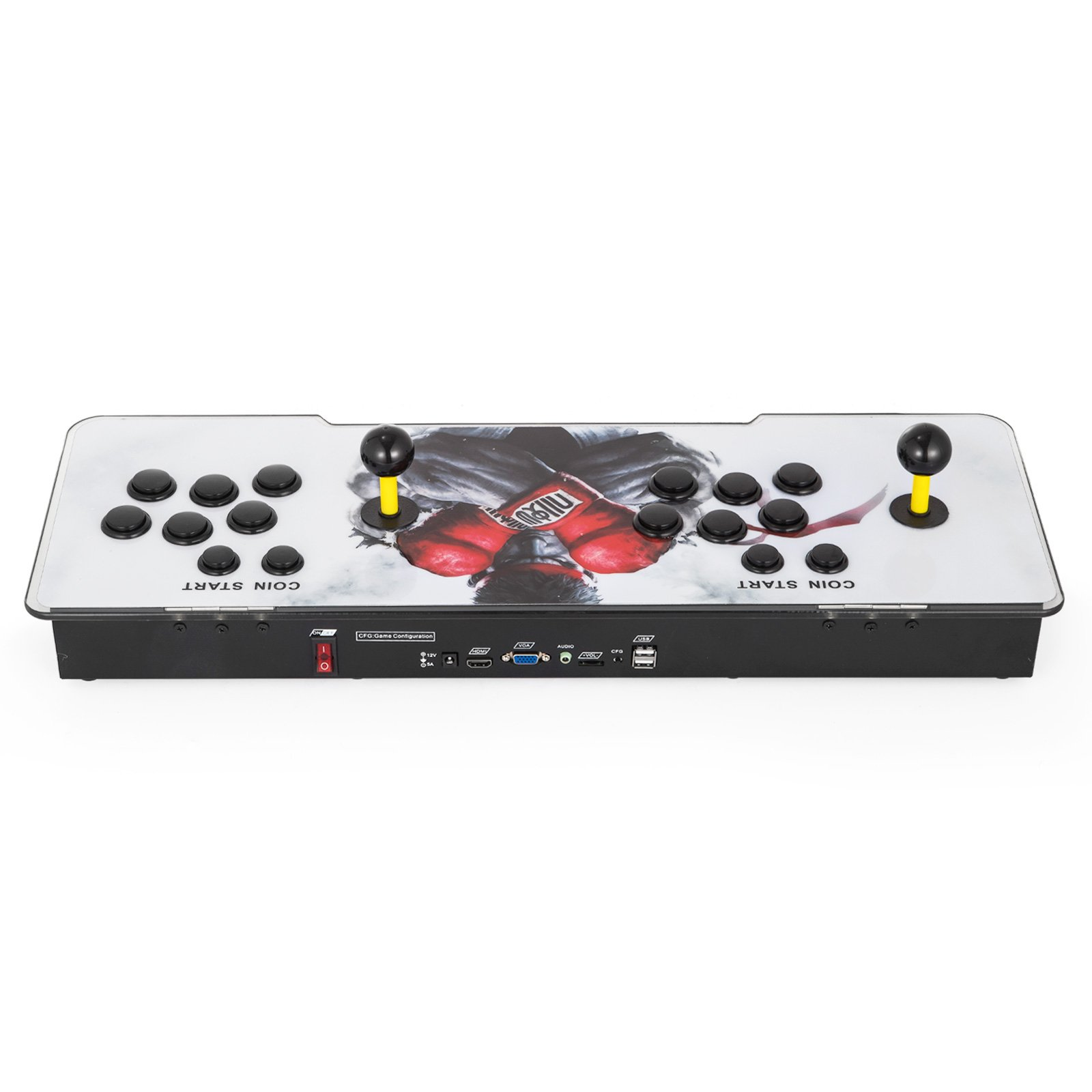 Happybuy Video Game Console, Arcade Machine Over 1500 Latest Classic Games, 2 Players Pandora's Box 9S Multiplayer Home Arcade Console Games All in 1 Non-Jamma PCB Double Stick Newest Design Power HDM by Happybuy (Image #5)