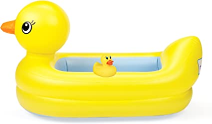 Munchkin White Hot Inflatable Duck Tub Bath Easy Bathing for Kids Baby Toddler