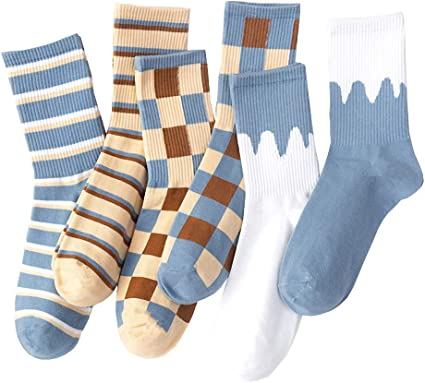 GuaziV 6-Pack Colorful Cotton Casual Novelty Ankle No-Show Sport Socks for Men Women