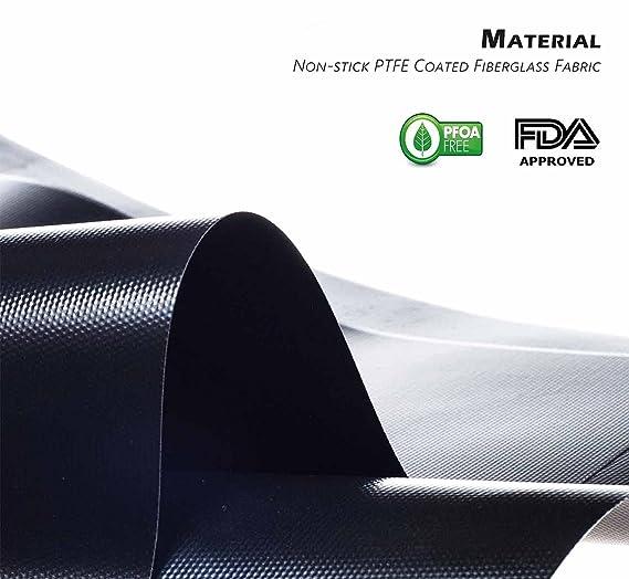 Barbacoa Grill Mat Antiadherente Reutilizable Resistente al Calor Grill Pads Aprobado por la FDA, Resistente y fácil de Limpiar Barbacoa Mat - Juego de 2: ...