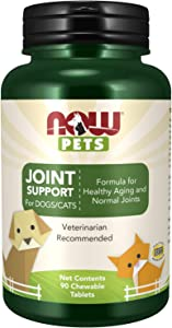 NOW Pet Health, Joint Support Supplement, Formulated for Cats & Dogs, NASC Certified, 90 Chewables Tablets