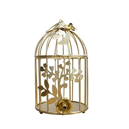 Powerpuff - Golden Color Bird Cage for Home Decoration