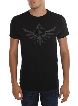 a98d5ea2 Amazon.com: Nintendo The Legend Of Zelda Black Triforce T-Shirt: Clothing