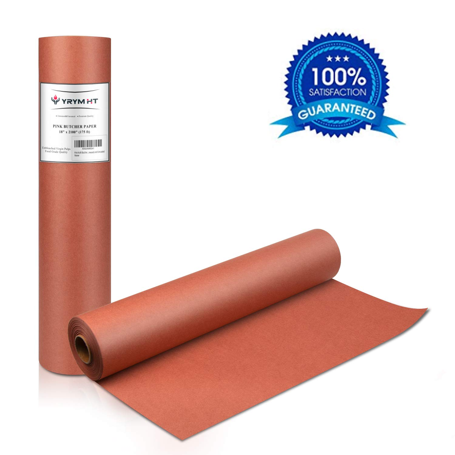 Peach Butcher Paper Roll 18 by 200 Feet Pink Butcher Paper for Smoking Meat
