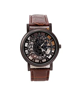 Becoler Stainless Steel Quartz Military Sport Leather Band Dial Wrist Watch for Man Woman