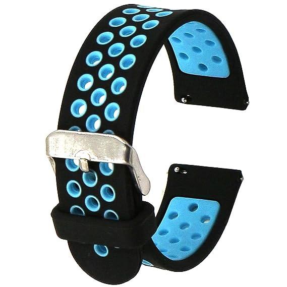 Elespoto Reloj Inteligente Smart Watch 22mm Silicona Banda de Reloj de la correa de para Samsung Galaxy Gear 2 R380 Neo R381 Live R382 / MOTO 360 ...