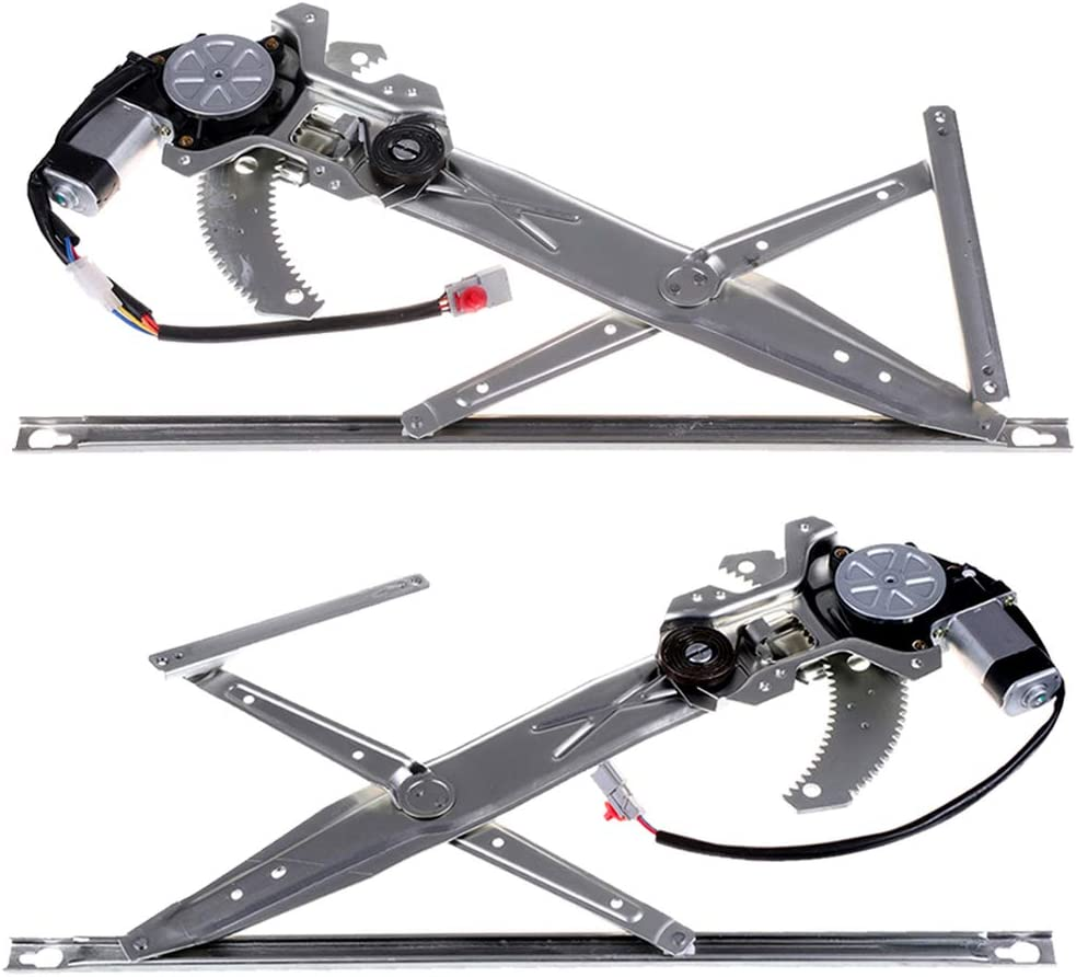 Power Window Regulator with Motor A Pair of Front fits for 2002-98 Accord Coupe 72251S82A01 72255S82A01