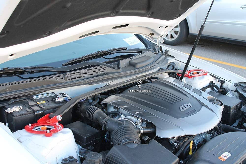 Racingbees 2010-2013 Mazda3 Mazda 3 Sedan Hatchback Front Upper Strut Tower Bar Engine Mount Race Spec 1 Piece