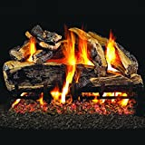 Peterson Real Fyre 30-inch Charred Rugged Split Oak Gas Log Set With Vented Natural Gas G45 Burner - Manual Safety Pilot