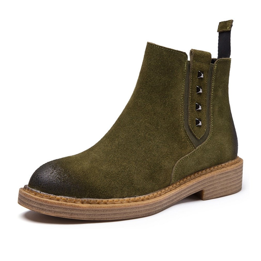 Btrada Womens Winter Ankle Booties Shoes Low Heel Slip Combat on Suede Combat Slip Martin Short Boots B0768HJB8W Combat d99049