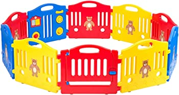Baby Playpen Safety Play Yard Fence Activity Centre 10 Panel