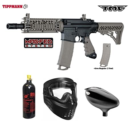Amazon Com Tippmann Tmc Magfed Beginner Co2 Paintball Gun Package