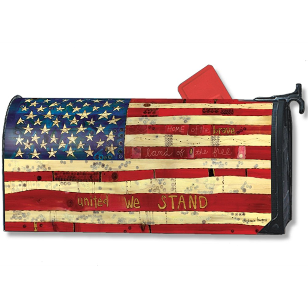 MailWraps Home of the Brave Mailbox Cover 01299