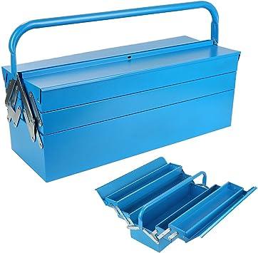 Caja de herramientas vacía de acero, caja de herramientas, caja de herramientas, caja de herramientas, montaje de maletín, 580 x 220 x 210 mm: Amazon.es: Bricolaje y herramientas