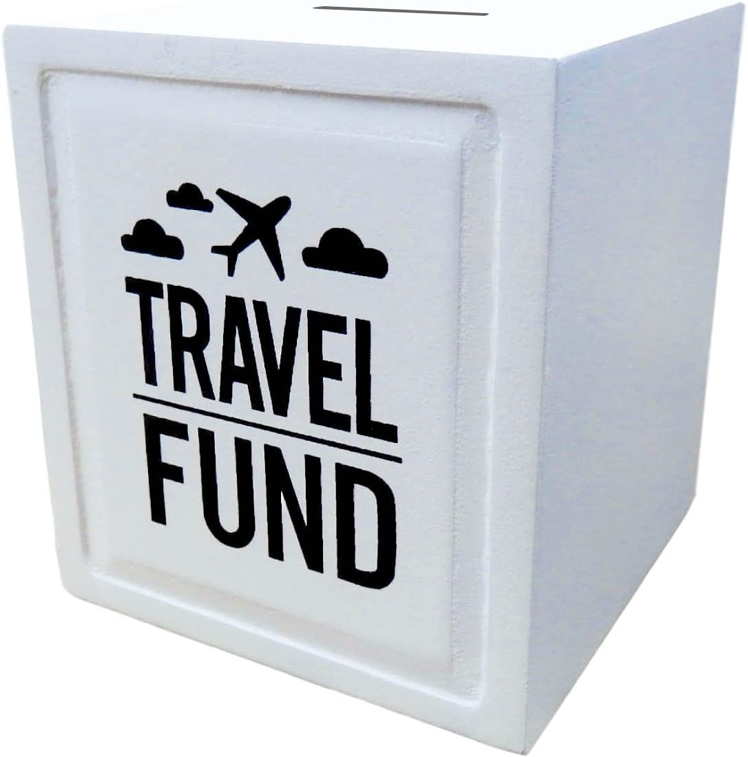 Travel Fund Piggy Bank - Wedding and Travel Gift Ideas - Money Box - House Warming and Retirement Gifts for Travelers
