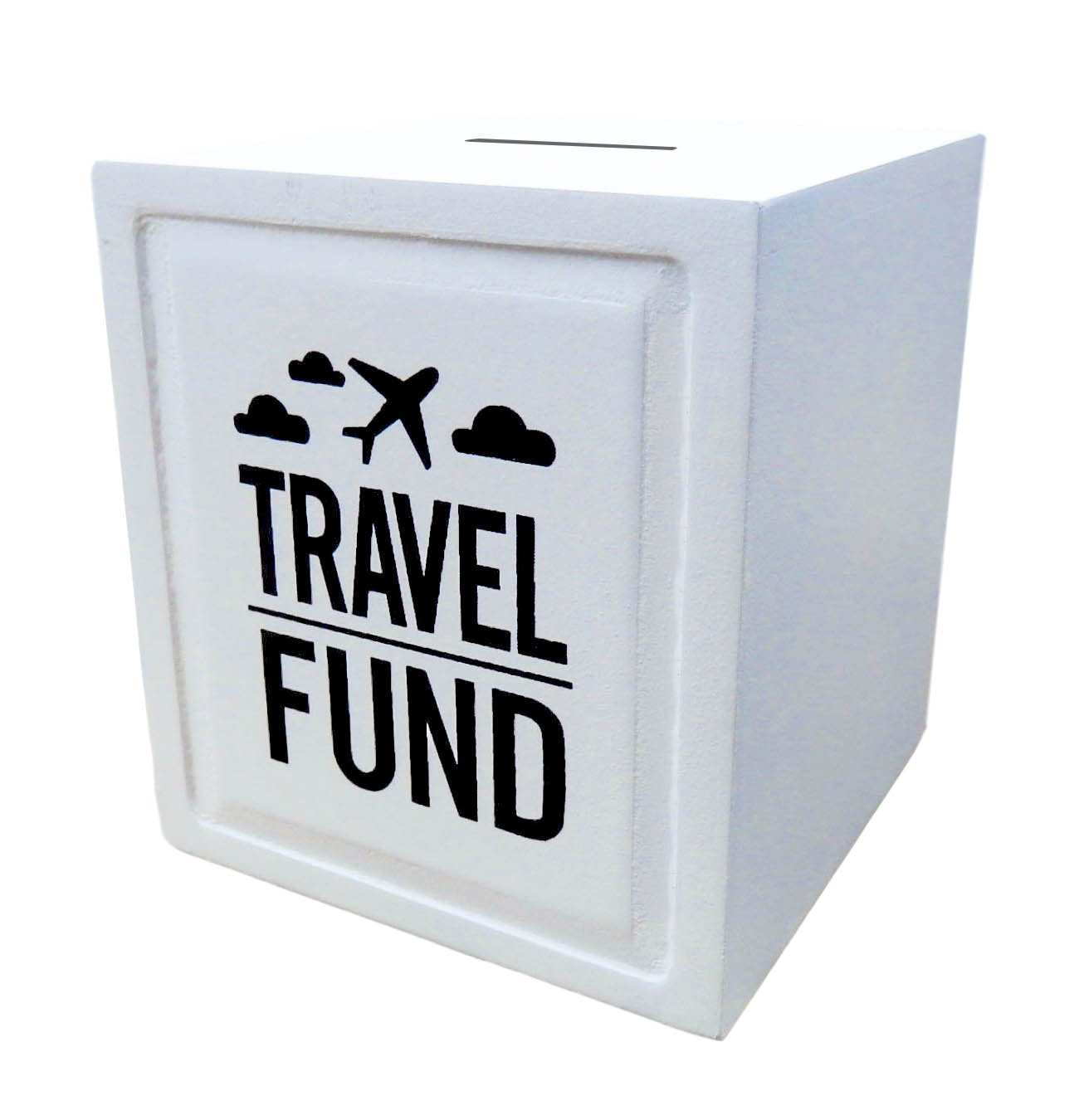 ''Travel Fund'' Piggy Bank - Wedding and Travel Gift Ideas - Money Box - House Warming and Retirement Gifts for Travelers