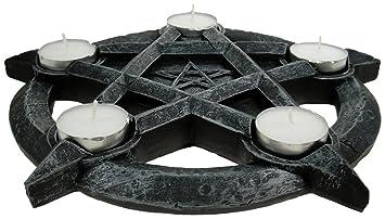 Nemesis Now Porta Velas Pentagrama Porta velas Negro