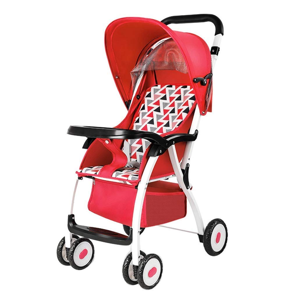 Zsail Baby Stroller Portable Lightweight Folding Pushchair Travel System Suitable from Birth to 25 Kg (Color : E)
