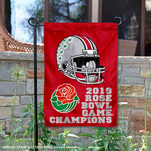 College Flags and Banners Co. Ohio State Buckeyes 2019 Rose Bowl Game Champions Garden Flag