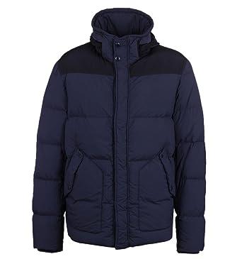 facaa1246 CP Company Navy Garment Dyed Goggle Hood Down Jacket: Amazon.co.uk ...