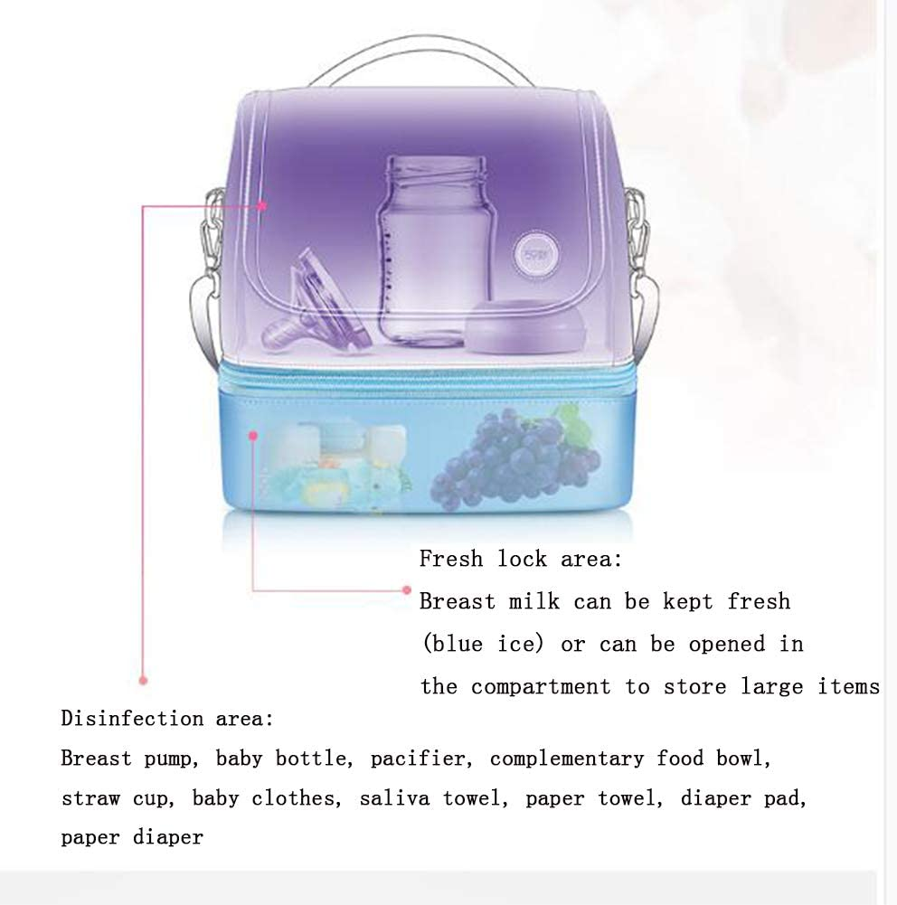 XJZHANG Portable 59S UV Sterilizer Bag Jewelry,Toothbrush,Beauty Tools Underwear Toys Cell phone UV Light Sanitizer box Disinfection Pack for Baby Bottle
