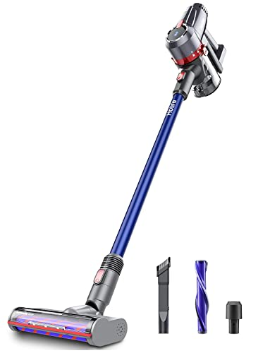 Holife 20Kpa Cordless Vacuum Cleaner, 220W Powerful Suction Lightweight 4 in 1 Stick Handheld Vacuum, 45Min Long-Lasting with Rechargeable li-ion Battery for Home Hard Floor Carpet Car Pet