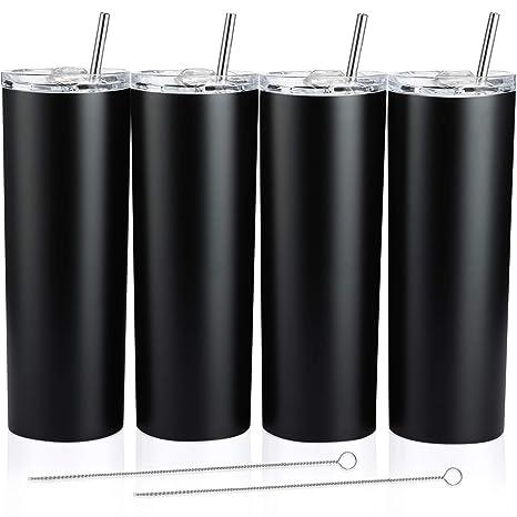 Amazon.com: Juego de 4 vasos clásicos de acero inoxidable ...